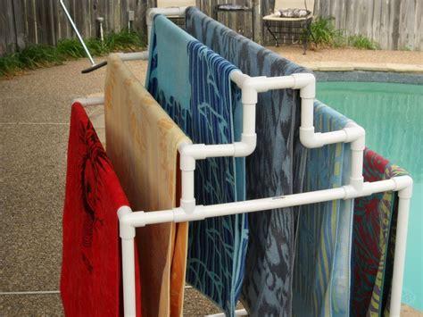 pool towel holder pool side 6 towel rack ebay
