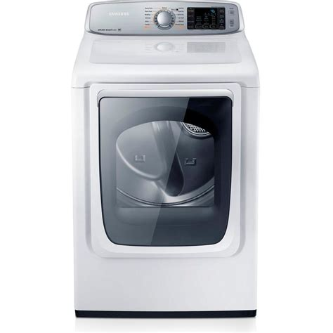 samsung 7 4 cu ft gas dryer with steam in white