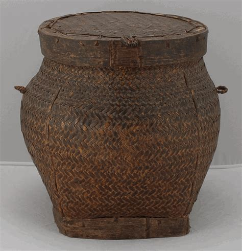 Chinese Kitchen Cabinets For Sale antique asian decor rice storage basket from the