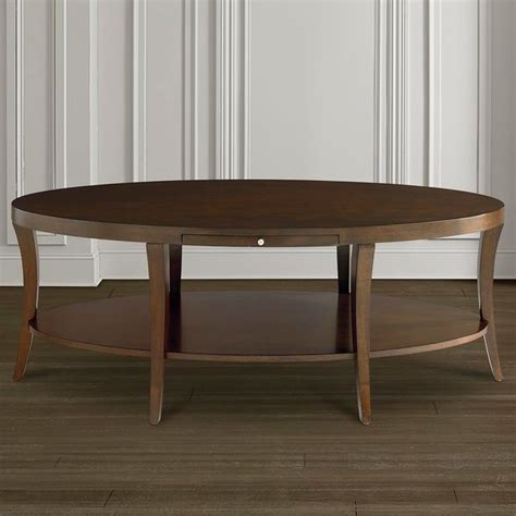Bassett Furniture Coffee Table Presidio Oval Cocktail Table By Bassett Furniture Contemporary Coffee Tables Raleigh By