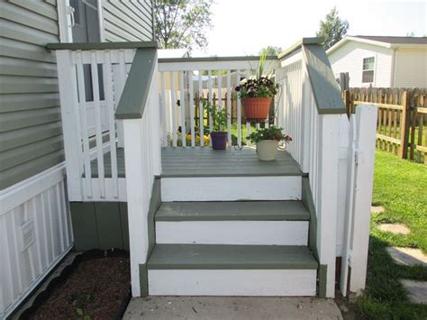 side porch designs my side entrance deck porch re stained with two behr solid
