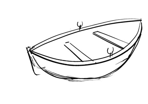 how to draw a perfect boat cartoon rowboat clipart best