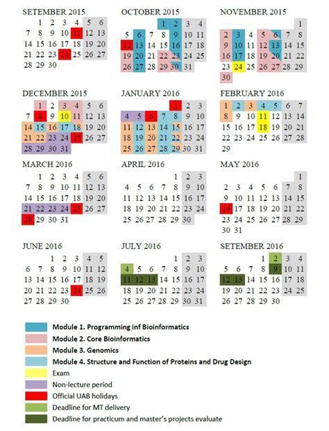 printable version calendar 2015 student s area master bioinformatics uab web 2 0 learning