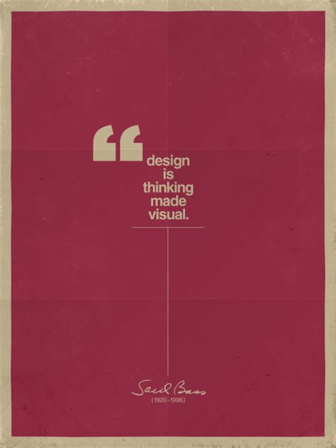 design is thinking the monkey buddha design quote by saul bass