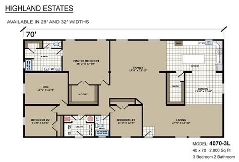 manufacturing floor plan highland estates 4070 3l by highland manufacturing