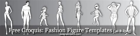 free fashion croquis 120 fashion figure templates