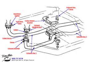 1963 corvette front pipes amp hardware parts parts