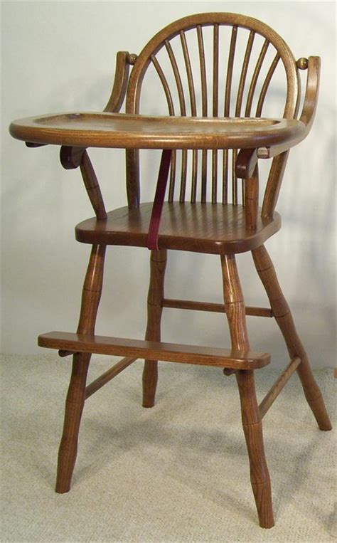 Amish Wooden High Chair by Amish Furniture Sheaf High Chair