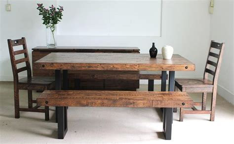 From Coffee Table To Dining Table New York Dining Table Made From Reclaimed Pine With Coffee Bean Stain Www Rattanplus Ca Stuff