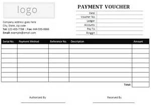 payment voucher template sle payment voucher for ms word office templates