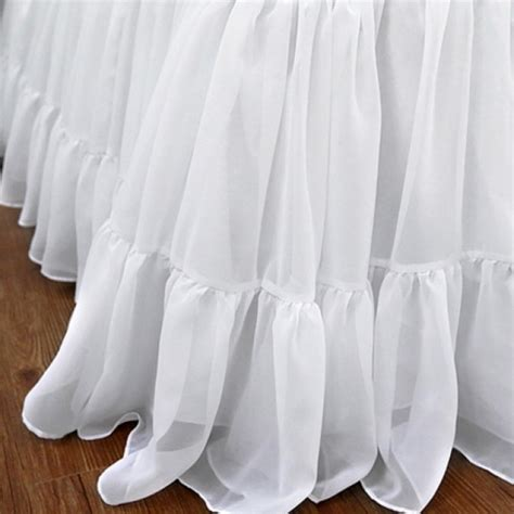 Glass Chair Mat Ruffle Bed Skirt