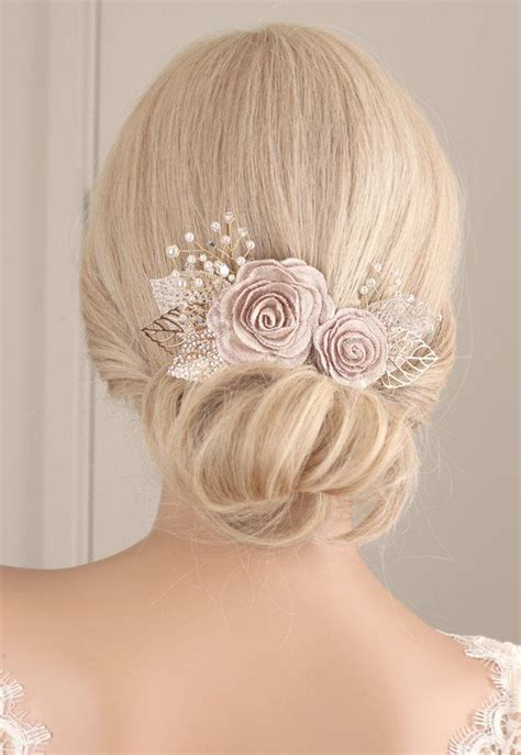 5 Bridal Hair Accessories To by Flower Hair Flower Hair Clip Wedding Hair