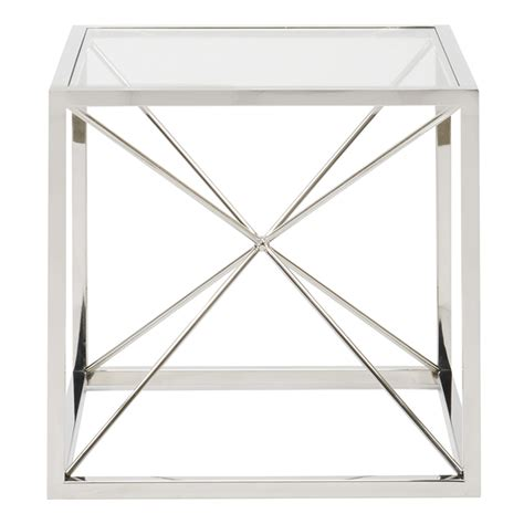 prism table prism end table luxe home company