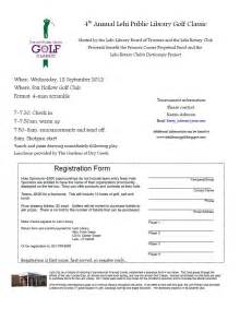 Golf Registration Form Template by The Lehi Library Golf Classic 2012 Tournament
