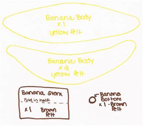 pattern felt banana while wearing heels i heart fake food felt banana tutorial