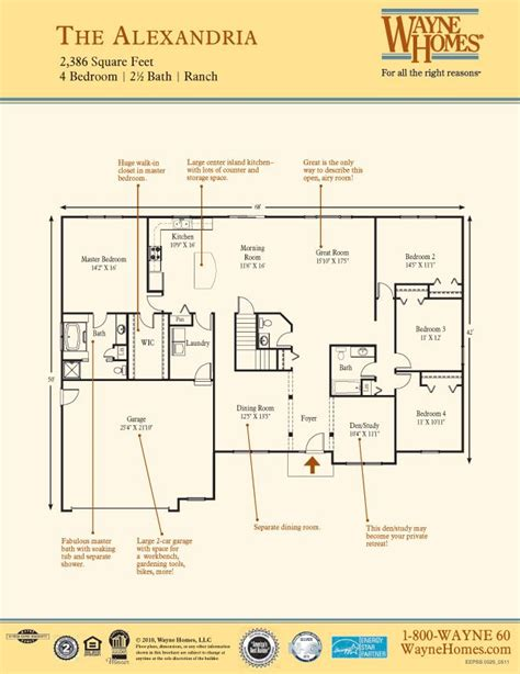 wayne homes floor plans ranch house custom home floor plans the alexandria