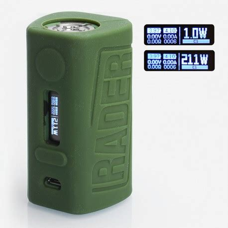 Boxer Rader 211w Tc Box Mod Authentic By Hugo Vapor authentic hugo vapor boxer rader 211w green tc vw variable