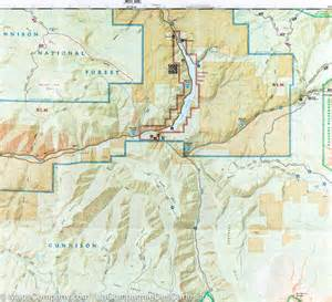 map of paonia colorado trail map of kebler pass paonia reservoir colorado