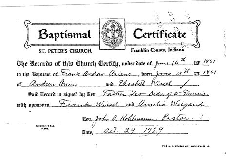 baptism certification letter free catholic baptism certificate template choice image
