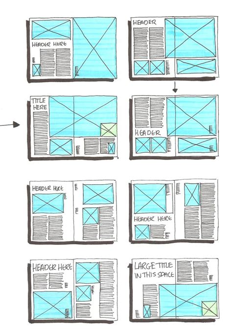 design magazine exles grid layout sketches on pinterest magazine layouts
