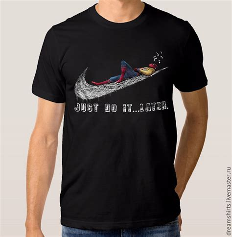 Tshirt Spederman t shirt quot spider just do it later quot shop on