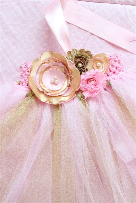 baby tutu bloomer and shabby chic floral by ellasbows on etsy gorgeous light pink and gold tutu dress satin shabby chic