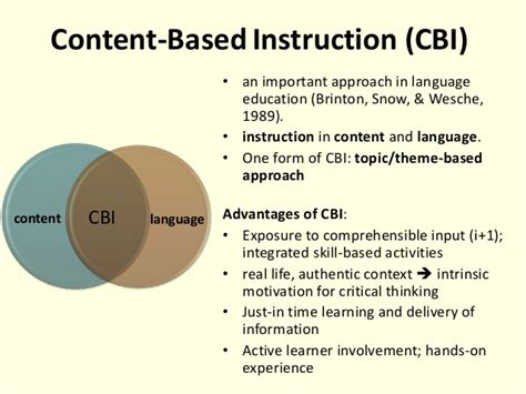theme based education project based learning pbl content based instruction