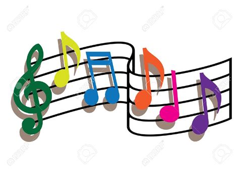 clipart musica notes clipart colourful pencil and in color