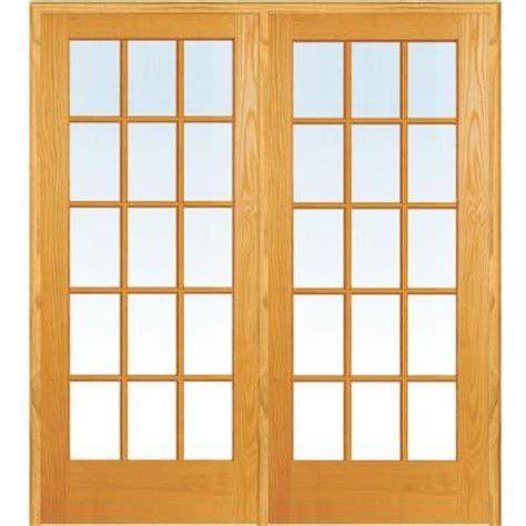 24 X 72 Interior Door Milliken Millwork 72 In X 80 In Classic Clear True Divided 15 Lite Unfinished Pine Wood