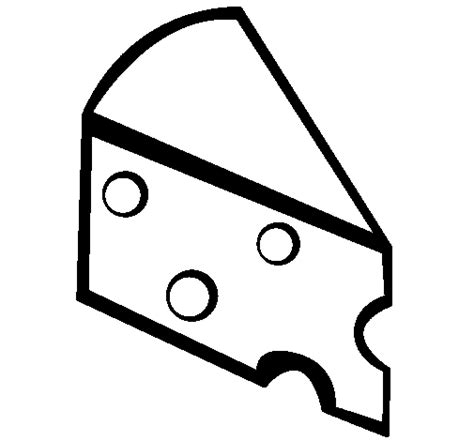 cheese coloring page coloringcrew com