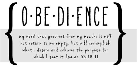 how to your to be obedient obedience can t be judged on what we can see