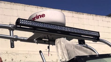 led light bar for boats boat radar and light bar installation by monney redwood