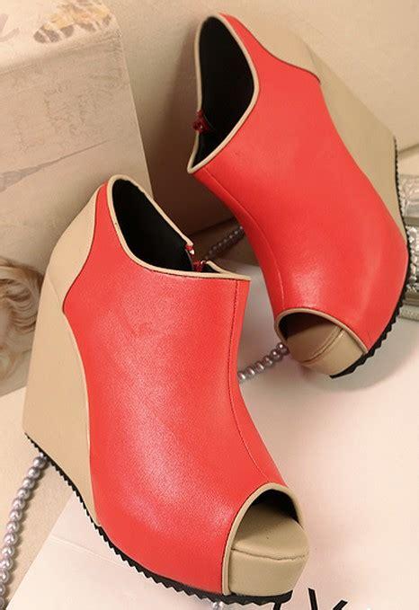 Boots Block Fashion Korea 959 korean style fish color block shoes on luulla