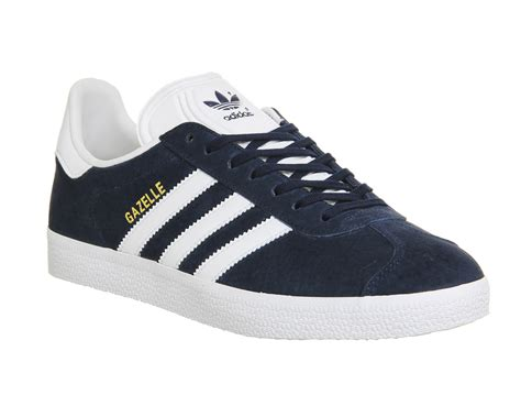 Adidas Gazele Navy adidas gazelle collegiate navy white his trainers
