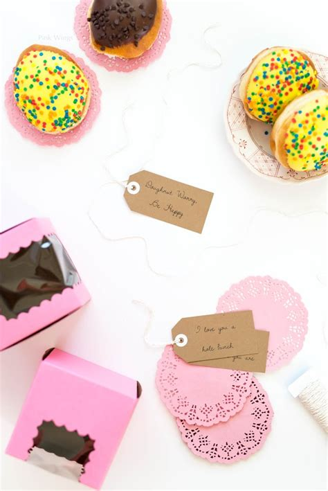Krispy Kreme Donut Giveaway - the gift of doughnuts giveaway pink wings