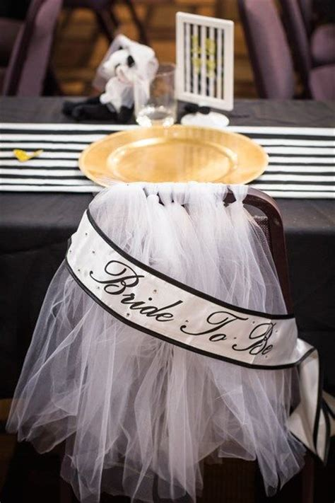 bridal shower chair adorn s chair at bridal shower with tulle resembling