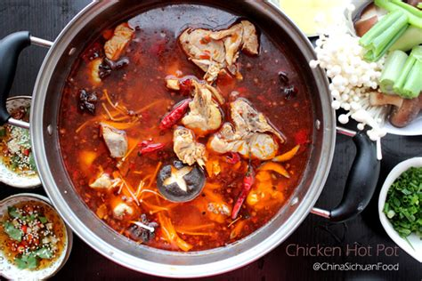 Recipes For Main Dishes - chicken pot 辣子鸡火锅 china sichuan food