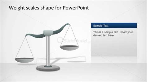 left inclination weight scale shape for powerpoint