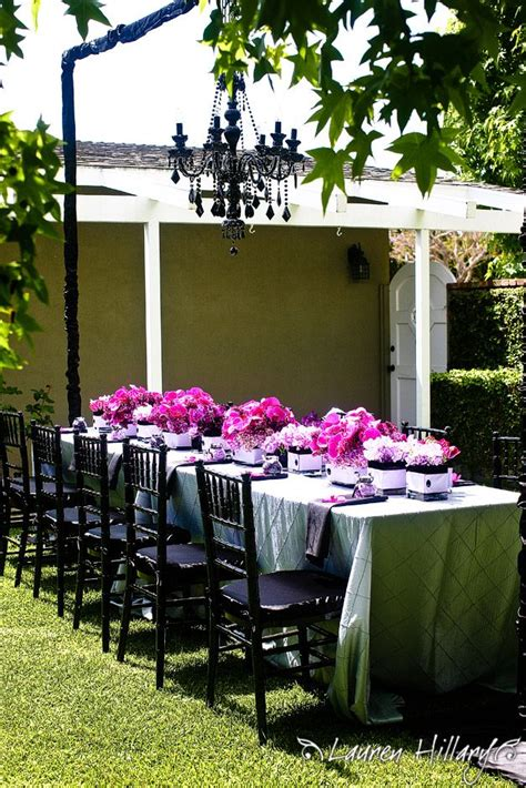 bridal shower centerpieces using pictures marva s stunning bridal shower tablescape with black chairs and chandelier and