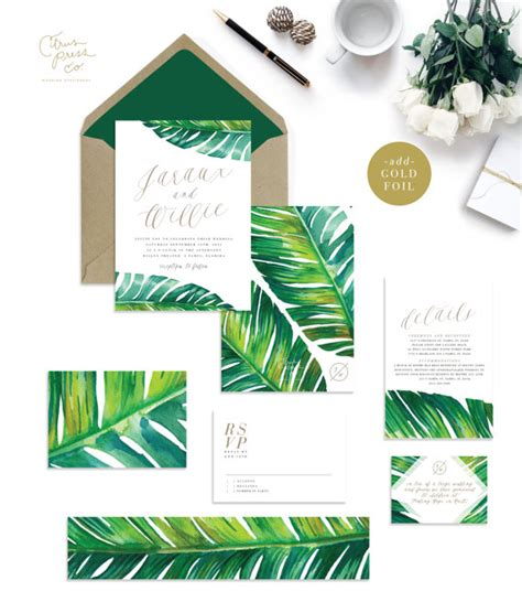 Leaf Themed Wedding Invitations by 50 Best Wedding Invitations 2016 Emmaline