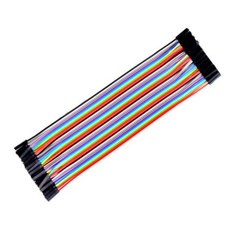 Jumper To 40 Pin 20 Cm 40pcs 20cm 2 54mm 1p 1p pin to color breadboard cable jump wire jumper in