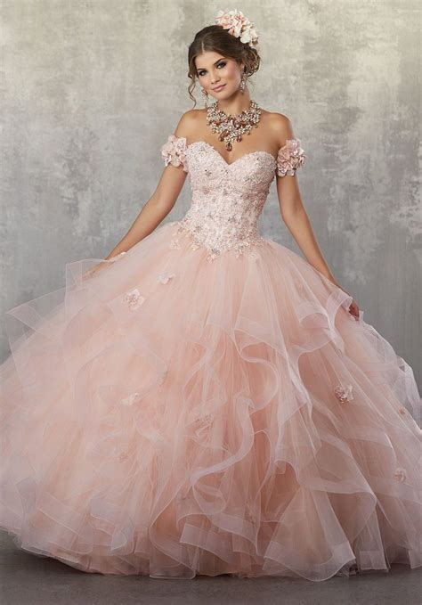 Strapless Lace Quinceanera Dress by Mori Lee Vizcaya 89174