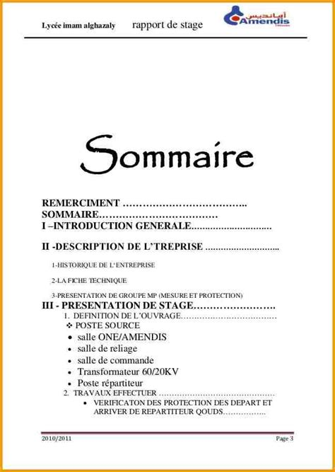 30 sommaire rapport de stage new kevincu