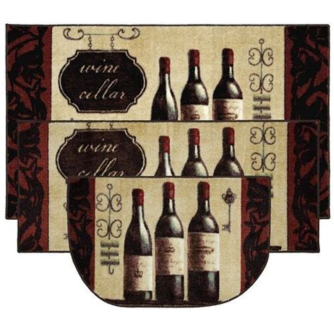 Wine Kitchen Rugs Wine Kitchen Rugs Mohawk Home Wine And Glasses Three Kitchen Rug Set 14206522 Overstock