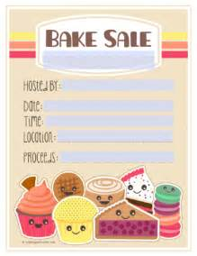 Bake Sale Flyer Free Template by Bake Sale Printable Labels Set Worldlabel