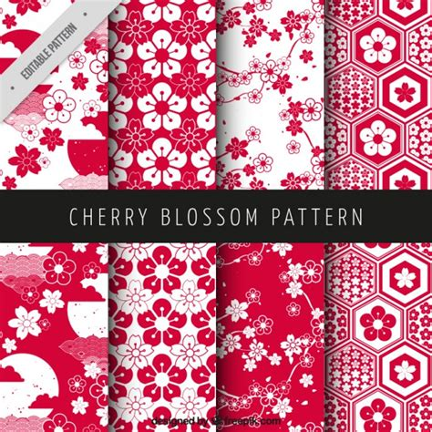 pattern japan vector free cherry blossom patterns vector free download