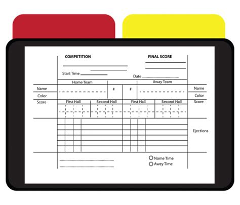referee report template printable soccer referee report kidspressmagazine