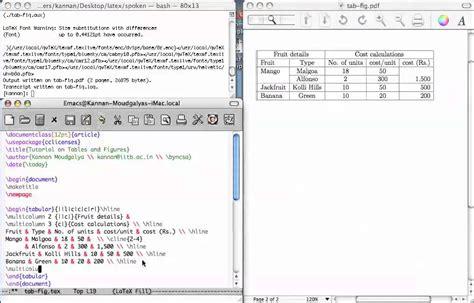 spoken tutorial latex tables and figures marathi youtube