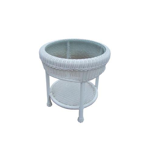 resin wicker side table resin wicker outdoor side table hd et wt the home