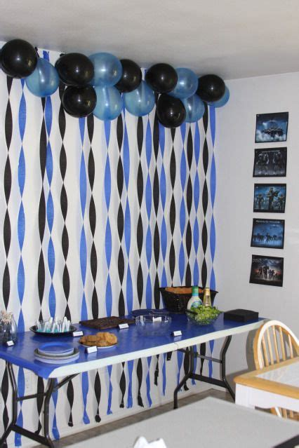 graduation room decorations change the colors but great idea graduation backdrops food tables and